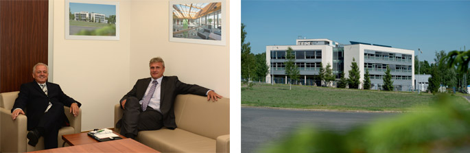 Lubos Novak, PhD., Ales Cernin, PhD. and the building of Membrane Innovation Centre